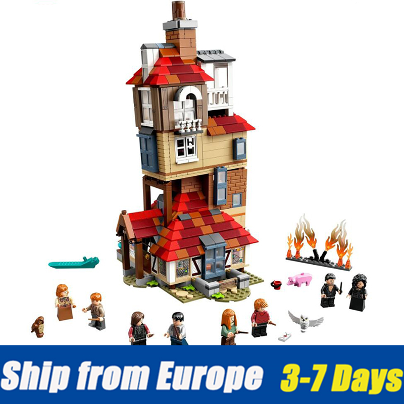 Ensemble de blocs de construction château magique Hogwart, attaque sur les fosses, maison de cinéma, roi 7185, jouets pour enfants, briques cadeau d'anniversaire