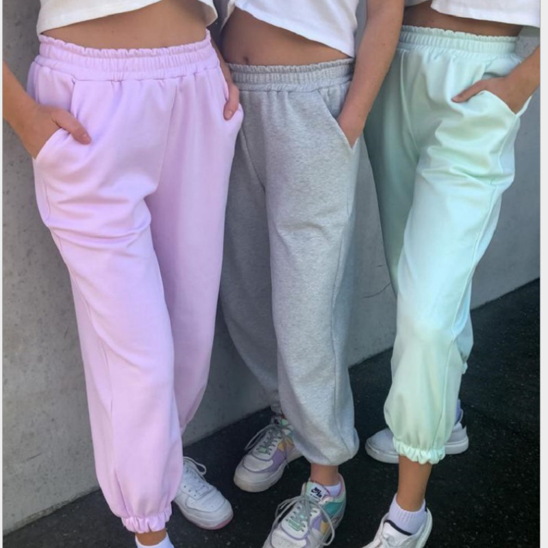 Women Pants Capris Homewear Casual Bottoms 2020 Fashion Ladies Casual Loose Outfit Clothing