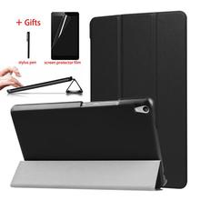 Smart Magnetic Case For Lenovo Tab3 8 Plus P8 TB-8703F TB-8703X Tablet Leather Cover For Lenovo Tab 3 8 Plus Case + Film + Pen цена в Москве и Питере
