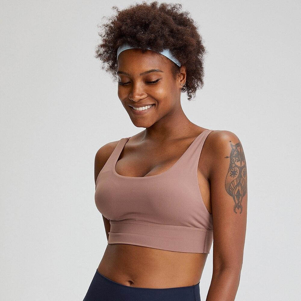U geri sıkı egzersiz spor Yoga sutyeni kadınlar çıplak hissediyorum tereyağı yumuşak atletik spor eğitim spor sutyenler sütyen