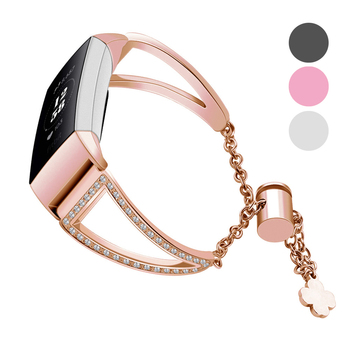 Essidi Adjustable Strap For Fitbit Charge 3 4 Smart Bracelet Stainless Steel Watch Band Clasp For Fitbit Charge 3 4 Accessories