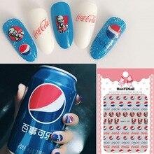 Douyin онлайн знаменитостей Маникюр цветок переводные наклейки на ногти Пепси роспись ногтей HANYI207