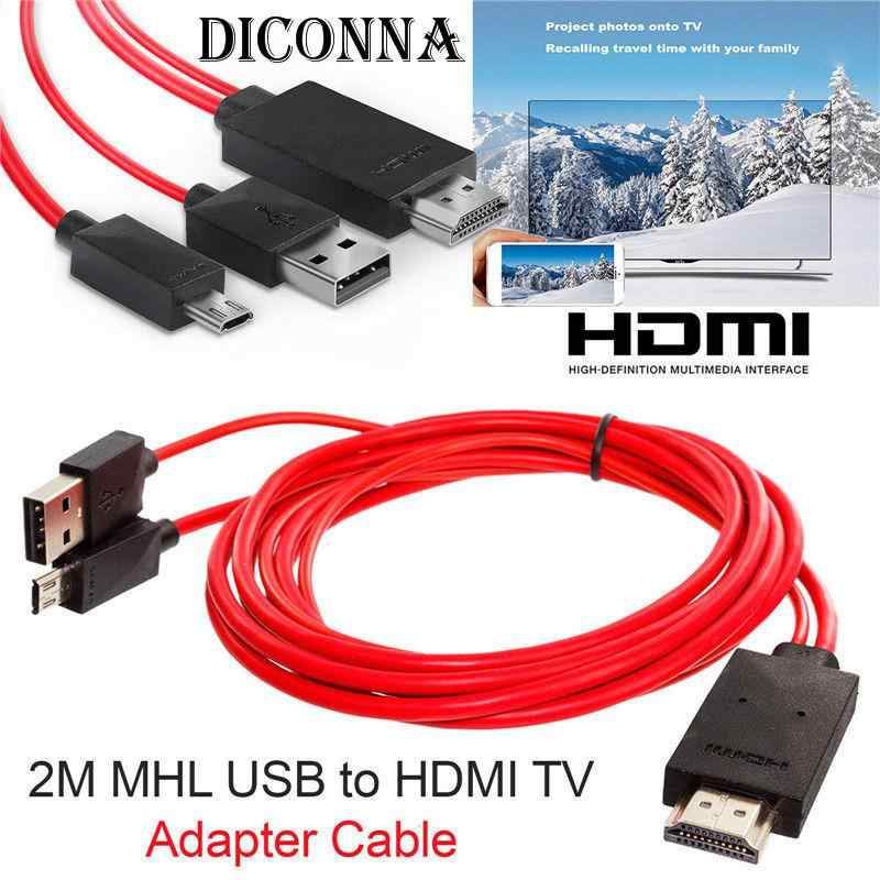 2M USB MHL a HDMI cable adaptador de TV Micro USB a HDMI 1080 Cable de TV HD adaptador para Android Samsung Smartphone Tablet TV11PIN