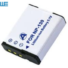 NP-130, NP130, NP-130DBA CNP-130 CNP130 Батарея для объектива с оптическими зумом Casio Exilim EX-H30 ZR100 ZR200 ZR300 ZR400 ZR410 ZR700 ZR1000 ZR1500 - Цвет: Белый