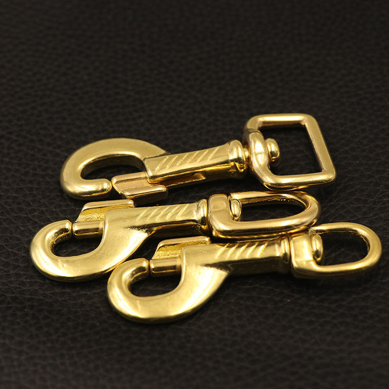 Brass Swivel Eye Trigger Bolt Snap Hook for Webbing Leather Craft Bag Strap Belt Hook Clasp Pet Dog Leashes Clip Heavy Duty in Buckles Hooks from Home Garden