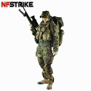 NFSTRIKE VeryHot Soldier Model Suit Marine Sniper Uniform Equipment For 1/6 12 Inch Soldier Model (Body And Head Not Included)