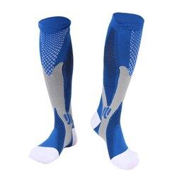 Men Women Compression Socks Fit For Sports Black Compression Socks For Anti Fatigue Pain Relief Knee High Stockings EU 39-47 Hot