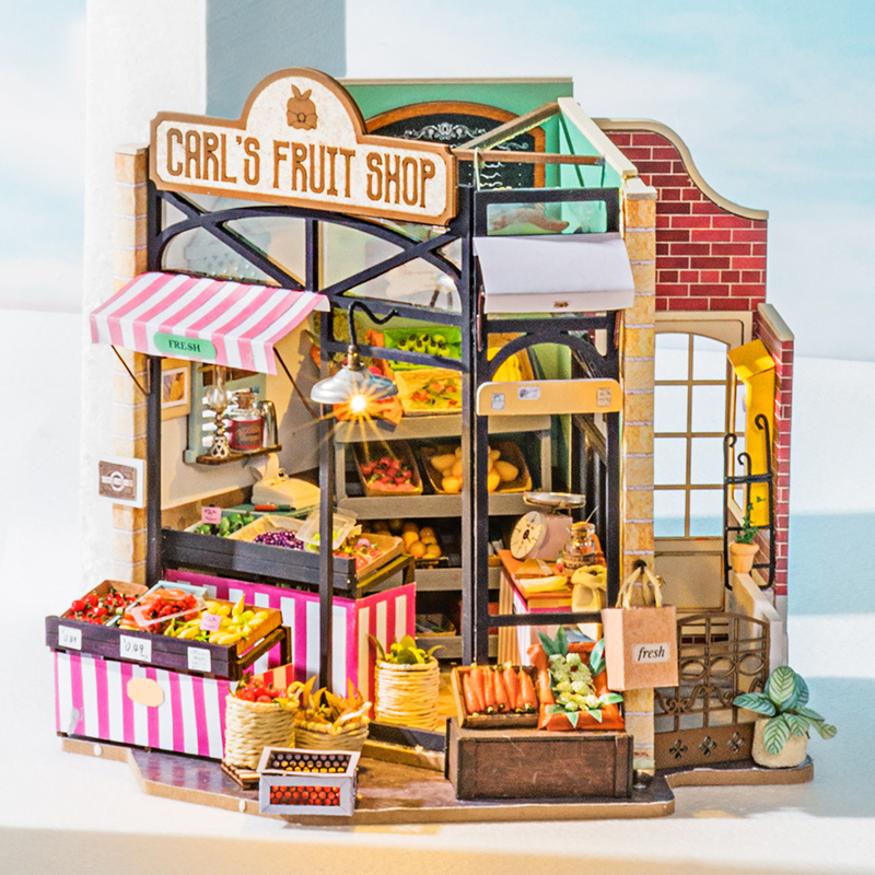 Robotime Rolife DIY Wooden Miniature Dollhouse with Furniture For Gift 1