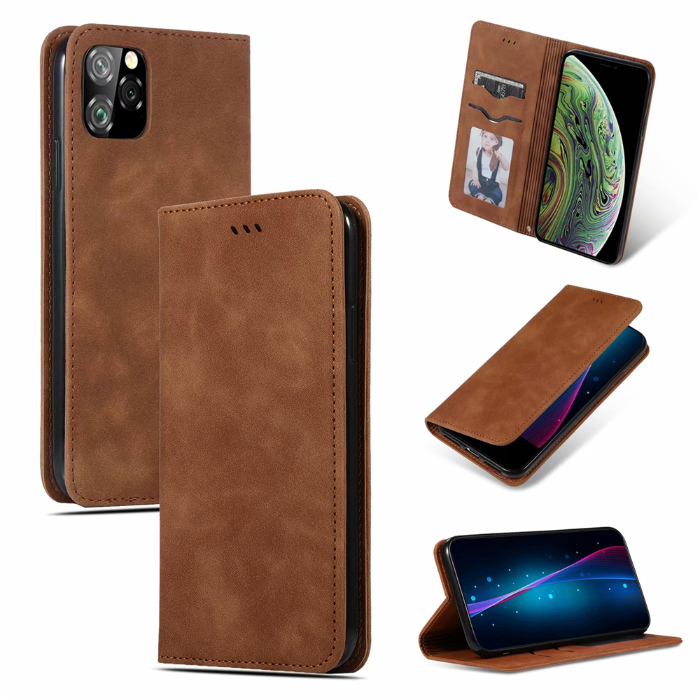 Luxury Leather Flip Wallet Case for iPhone 11/11 Pro/11 Pro Max 12