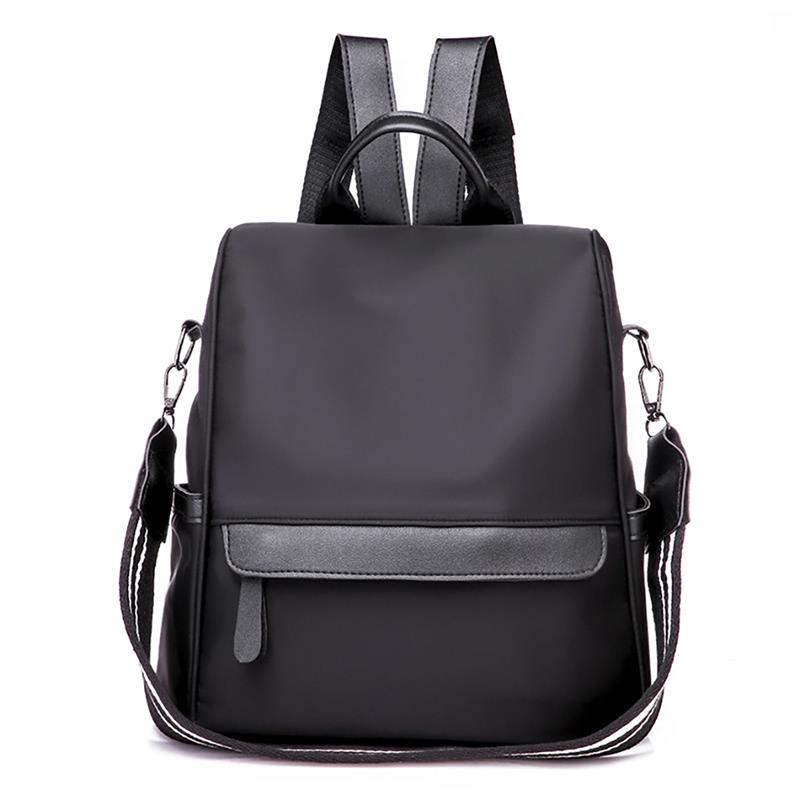 2020 Casual Oxford Backpack Women Black Waterproof Nylon School Bags For Teenage Girls High Quality Fashion Travel Tote Backpack