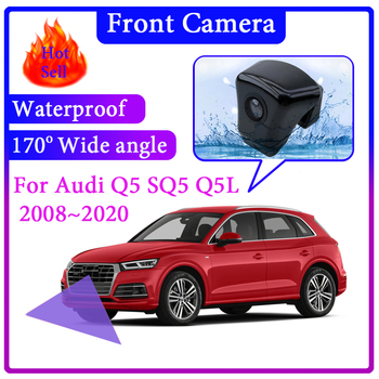 For Audi Q5 SQ5 Q5L B8 8R B9 2008~2020 Car LOGO Front View Camera Night Vision Wide Angle Degree Embedded Blind Spot Area CAM