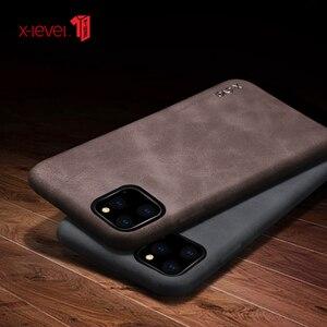 Image 5 - Voor Iphone 11 Pro Max 2019 Case Luxe Vintage Leather Cover Case Voor Iphone 11 Pro 6.1 Terug Case Brown X Niveau
