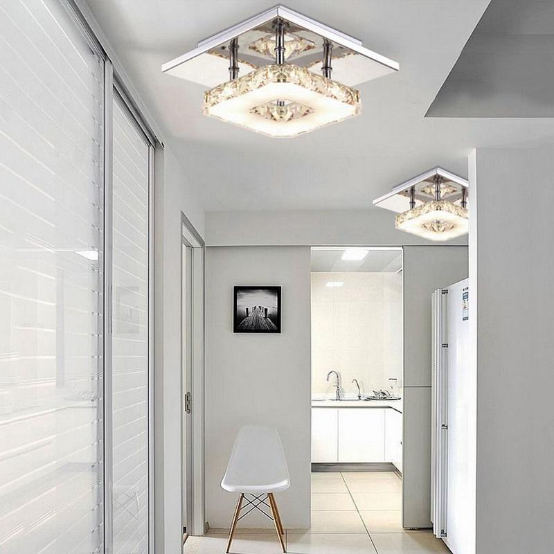 H434aa84b3ffd4aedac85300ea912c9ad4 Indoor ceiling crystal lamp modern LED ceiling lamp living meal bed room home decoration