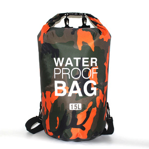 2/5/10/15L Outdoor Camouflage Waterproof Portable Rafting Diving Dry Bag Sack PVC Coated Swimming Bags for River Trekking