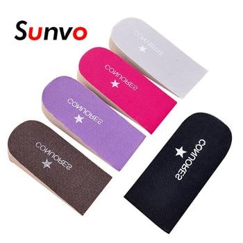 Plantillas Unisex de aumento de altura, suela de media plantilla con tacón de 2,5 cm, plantillas de zapata deportivas de Color aleatorio, 1 par