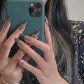 Леопардовые накладные ногти на шпильке, съемные накладные ногти, носимые французские накладные ногти с полным покрытием, 24 шт.