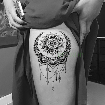 Waterproof Temporary Tattoo Sticker Lotus Dreamcatcher Fake Tatto Flash Tatoo Back leg Abdomen Arm tatouage for Girl Women Men