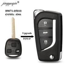 jingyuqin Upgraded Remote TOY47 Key Fob 434MHz 4D66 for Toyota Yaris Avensis Corolla Carina ETC P/N: 89071 05010