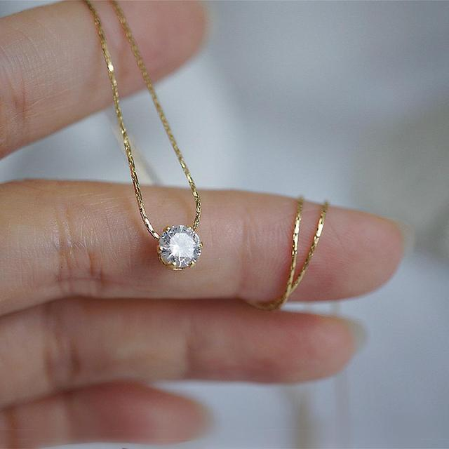 Gold Plated Neck Choker With Shiny Zircon  5