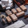 INS стиль английская ПЕЧАТНАЯ МАШИНКА штамп резиновые штампы для скрапбукинга Канцтовары Скрапбукинг Стандартный штамп DIY деревянный