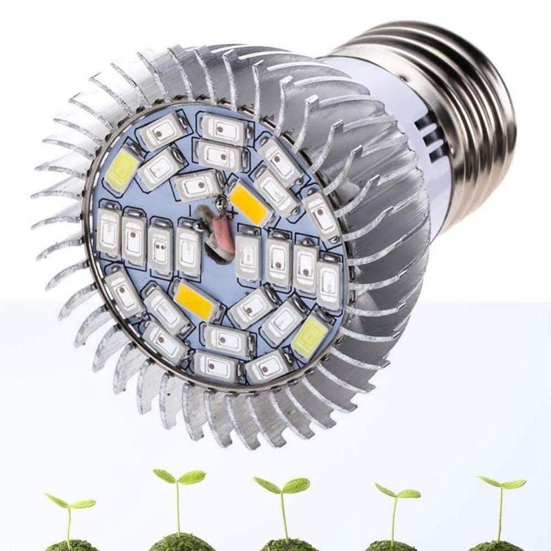 Garden Plant E27 Grow Bulb Full Spectrum Bulb Lights Indoor Plants Greenhouse Vegetable Flower Growth - 18 LED