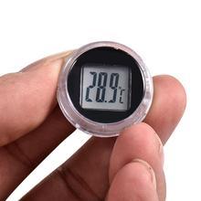 Licznik motocyklowy wodoodporny trwały motocykl cyfrowy termometr zegar motocykl wnętrze zegarki akcesoria do instrumentów tanie tanio Digital Thermometer Clock Motorcycle Thermometer Clock 2 8cm Waterproof