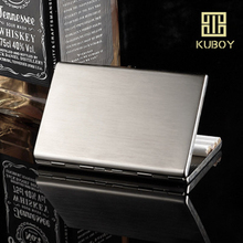 Slim Cigarette Case Ultra-thin Stainless Steel Tobacco Box Metal Holder 12