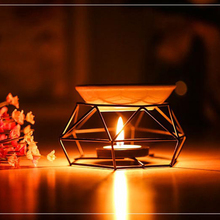 Oil Burner Candle Stainless Steel Aromatherapy Oil Lamp Home Decorations Aroma Furnace incense burner buddha head aromatic oil burner ceramic aromatherapy lamp light candle aroma furnace oil lamp essential home g