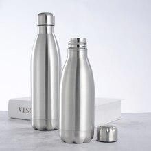 1000ml Sports Stainless Steel Water Bottle Single Wall Hot C