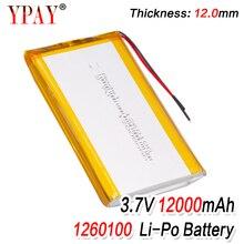 цена на 3 line Liter energy battery 3.7V lithium polymer battery 1260100 12000mAh game machine MP3 MP4 MP5 lithium battery GPS navigator