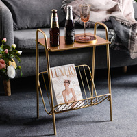 iron art simple and modern drawing room golden Receive a side table creativity coffee table To receive a table