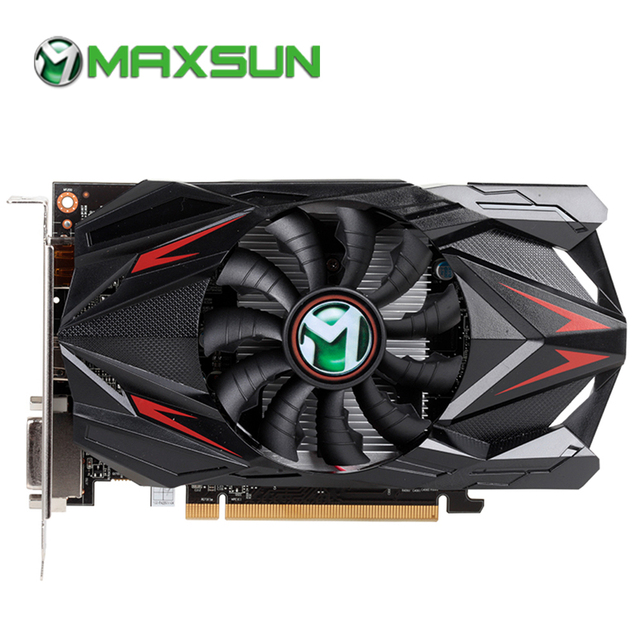 MAXSUN Graphic card rx 550 Transformers 4G AMD GDDR5 128bit 1183MHz 6000MHz 14nm HDMI+DP+DVI PWM 50W 512units rx550 video card