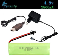 ( H Model ) 4.8v 2800mah NiMH Battery For Rc toys Cars Tanks Robots Boats Guns 4.8v Rechargeable Battery Ni-MH AA Battery Pack 2 pcs flexible pvc battery terminal covers positive negative insulation boots protector automobile for cars boats and trucks