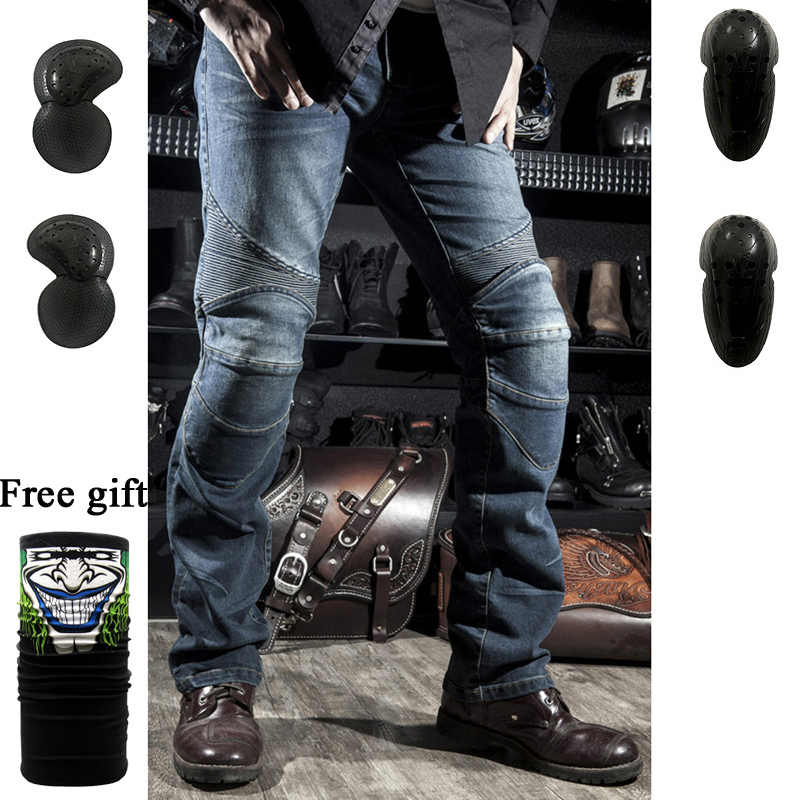 2019 Old cow jeans Leisure Mens motorcycle jeans pants of locomotive riding a motorcycle pants Biker Pants Denim Trousers