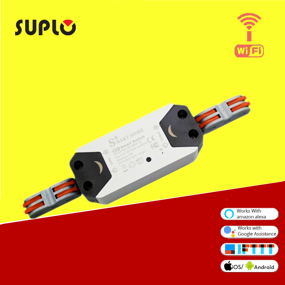 SUPLO Wifi Switch Smart WiFi Relay Switch Wireless Light Remote Control Module For Smart Home Automation