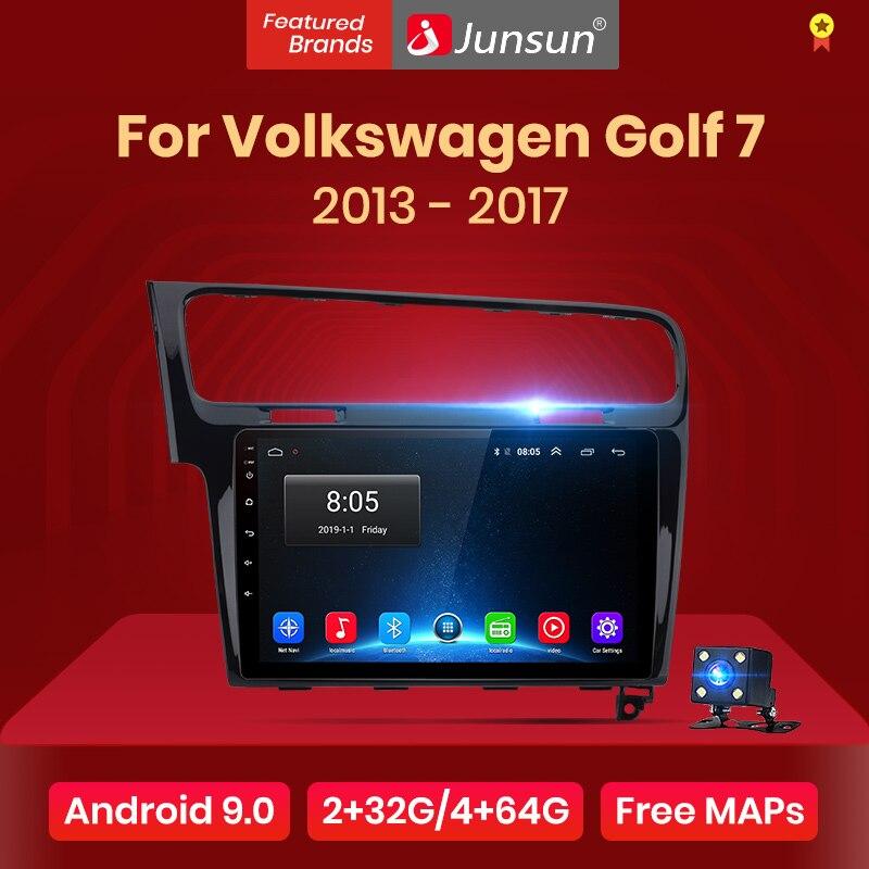 Jogador dos multimédios do rádio do carro de junsun 2g + 32g android 9.0 4g para volkswagen golf 7 2013-2017 navegação gps 10.1 auto din auto 2 din nenhum dvd