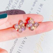 statement earrings 2019 square geometric earrings for women crystal luxury wedding rhinestone earring pair of charming rhinestone faux crystal leaf floral geometric earrings for women