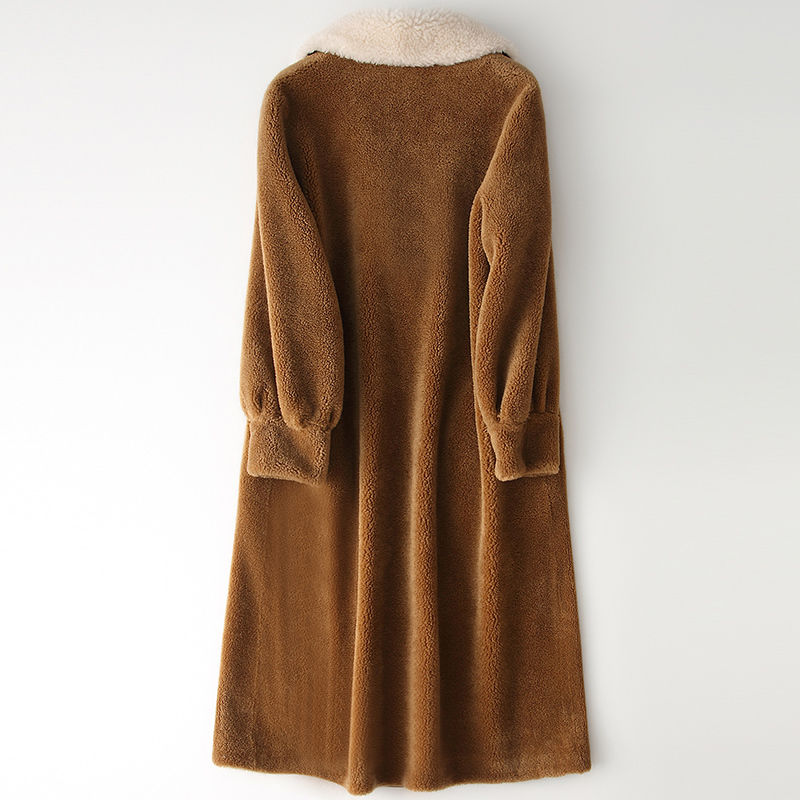 Real Wool Fur Coat Women 2020 New Winter Sheep Shearing Coats Women Real Fur Parkas Jaxkets Manteau Femme Hiver LX2378