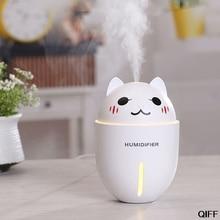 Прямая поставка и 3в1 320 мл USB увлажнитель воздуха ультразвуковой вентилятор охлаждения туман восхитительный Кот светодиодный lighttoct.31