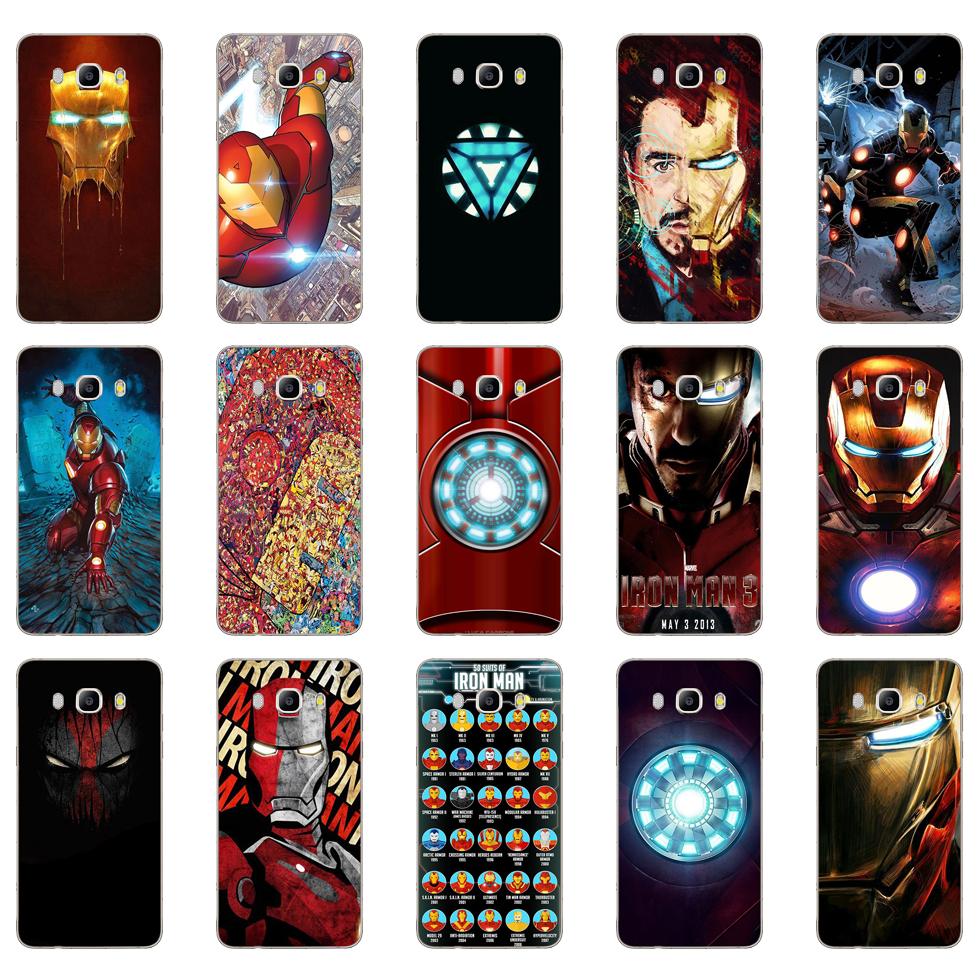 82DD Super Hero Iron Man Soft Silicone Case Cover for Samsung Galaxy a3 a5 2017 A6 A8 2018 j3 j5 j7 2016 2017 image
