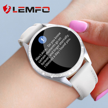 LEMFO Women Smart Watch Heart Rate Monitor Physiological Reminder IP68 Waterproof Smartwatch Women Men for Android IOS 1