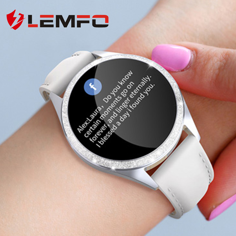 LEMFO Women Smart Watch Heart Rate Monitor Physiological Reminder IP68 Waterproof Smartwatch Women Men for Android IOS|Smart Watches| |  - AliExpress
