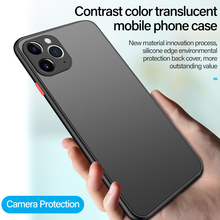 Ultra-thin Hybrid Simple Matte PC Phone Case For iPhone 11 Pro Max SE XSmax XR XS X 8 7 6s 6 Plus Silicone Bumper Frosted Cover ultra thin magnetic hard matte pc phone case for iphone 11 pro max se xsmax xr xs x 8 7 6s 6 plus frosted protection cover shell