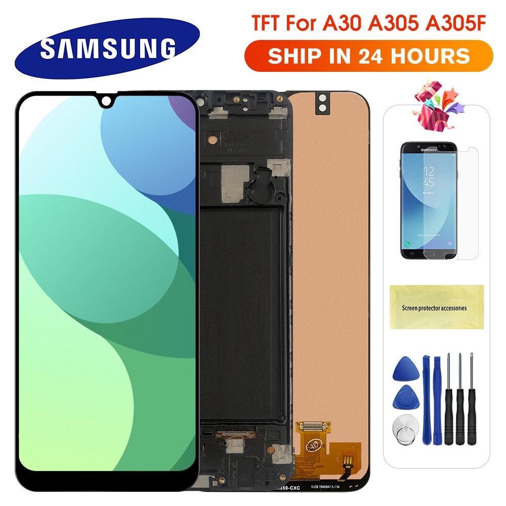 Дисплейный модуль для Samsung Galaxy A30 A305 A305F с инструментами