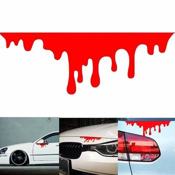 2Pcs Creative Car Red Blood Stickers Reflective Auto Cool Decals Light Bumper Body Sticker Covers Car-styling Exterior Accessory image