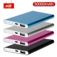 Banco de energía de 30000mah, cargador portátil ultradelgado, batería externa, USB, móvil, para Xiaomi, Samsung, IPhone