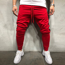 купить Drawstring Cargo Pants 2019 Men Striped Print Trousers Men Plus Size Sport Pants M-5XL L0823 по цене 931.38 рублей