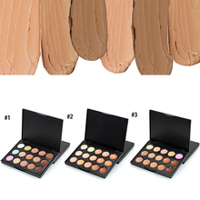 Popfeel Brand Makeup Color Concealer Full Cover Corrective Long Lasting Face Contour Makeup 15 Colors Concealer Palette +DHL