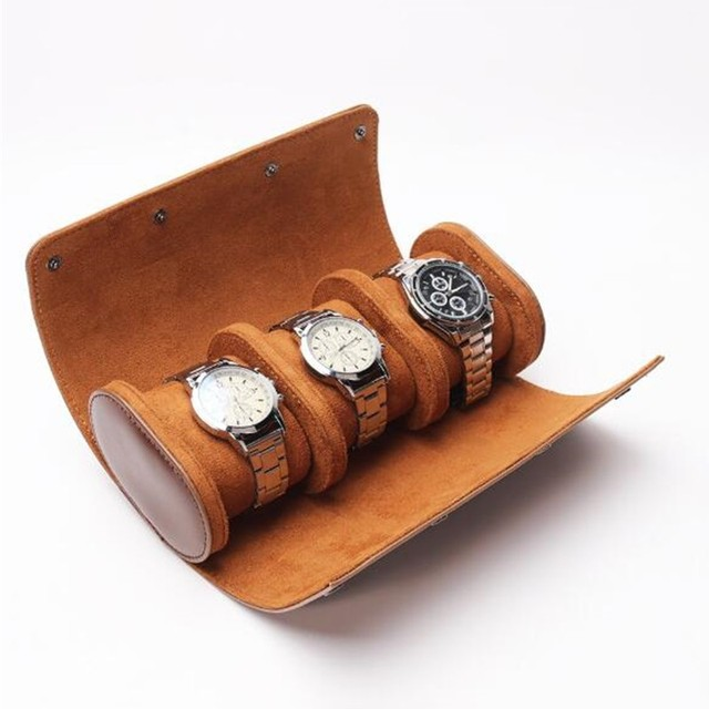 Watch Roll Case Vintage Leather Portable Organizer 2