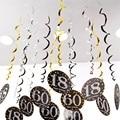 6 шт. 18/21/30/40/50/60/70 год Baby Shower счастливые День рождения Декор спиральное украшение для взрослых DIY Декор для вечеринок Гирлянда